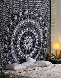 Decorative Mandala Elephant Printed Wall Tapestry
