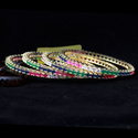 Multi-color American Diamond Bangles