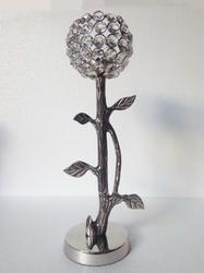 Tree Shape Aluminium Crystal Candle Holder