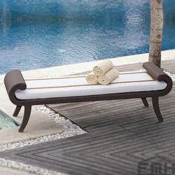 Outdoor Wicker Bench