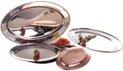 Copper Steel Oval Curry Dish