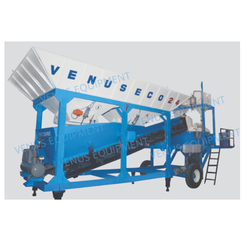 Reversible Concrete Mixer With Feeding System