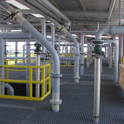 GRP Fiberglass Oil Platform Grating