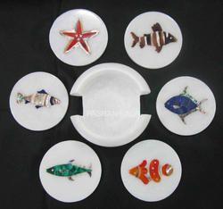 Inlay Marble Decorative Tea Coaster
