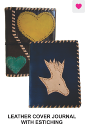 Journal Leather Cover With Estiching