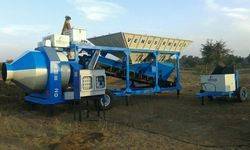 Mobile Concrete Batching Plant With Reversible Concrete Mixer (RMB Series)