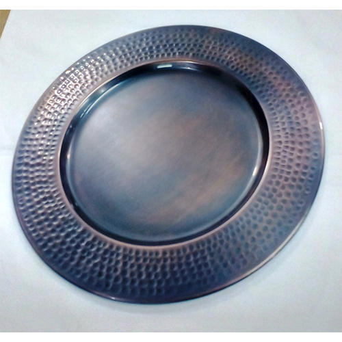 Antique Finish Charger Plate 13