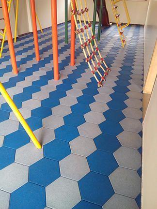 Rubber Flooring Tiles Blue And White Rubber Flooring Tiles