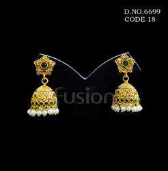 Traditional Antique Polki Earrings