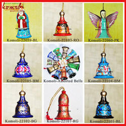 Hand Painted Wooden Bells Christmas Ornament Decoration