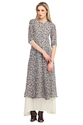 Cottinfab Women's Layered Long Dress