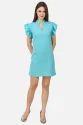Ladies Designer Sky Blue Dress