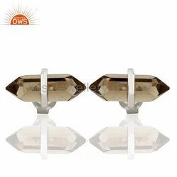 925 Silver Designer Gemstone Stud Earrings