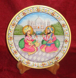 Marble Gold Painted Plate