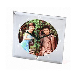 Sublimation Glass Square Clock