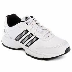 White Adidas Mens Sports Shoes, Size: 6