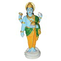 Metal Painted Vishnu Statue