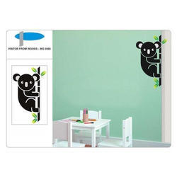 Visitor From Wood Wall Decal