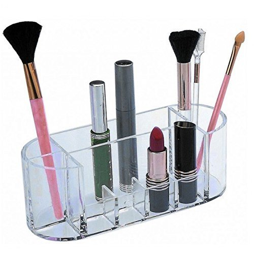 cd2df5f2 Makeup Brushes - Acrylic Oval Shape Makeup Storage Box Cosmetic Organizer  Wholesale Trader from New Delhi