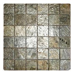 Deoli Green slate stone wall cladding Mosaic tile