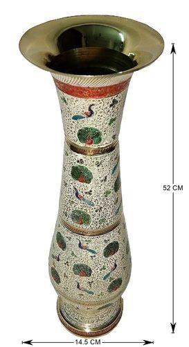 Vase Hand Crafted Bottle Pattern Brass Flower Vase Ecommerce Shop