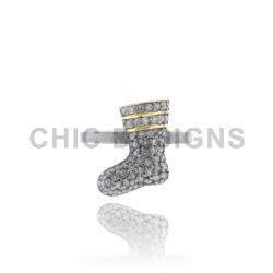 Socks Charm Sterling Silver Mid Ring