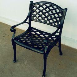 Black Aluminum Chair