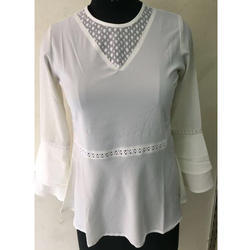White Frock Top