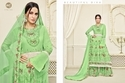 Green Georgette Printed Women's Sharara  Suit