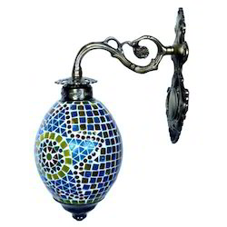 Iron Wall Hanging Glass Lamp