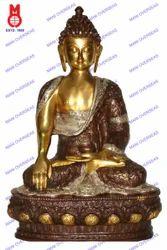 Buddha Sakyamuni Carved W/ History Statue