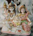 Marble Shankar Parvati Statue