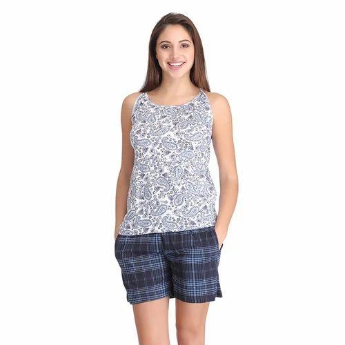 9dce4a0b69398 Ekouaer Women s Sexy Sleepwear Pajamas Set Sleeveless Patchwork Tank Tops  and Shorts Ladies Lingerie Nightwear Pajama Suit. Ladies Short