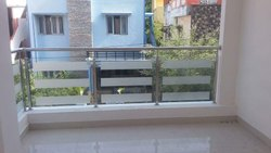Balcony Handrail Glass Work