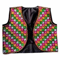 Cotton Sleeveless Embroidered Koti