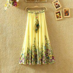 Designer Printed Crepe Skirt