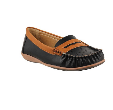 615717ff165 Women Loafers - Metro 31-6469-Black Casual Loafers Shoes Retailer ...