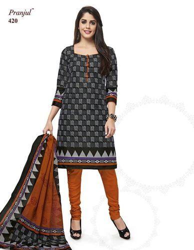 de9eec555a Shree Ganesh Printed Dress Material - Pranjul Priyanka Cotton Suit Wholesale  Supplier from Surat