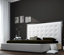 Wenge And White Leather Bed
