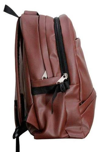 0c58cf8338 Leather Bags - School College Office PU Leather Backpack ...