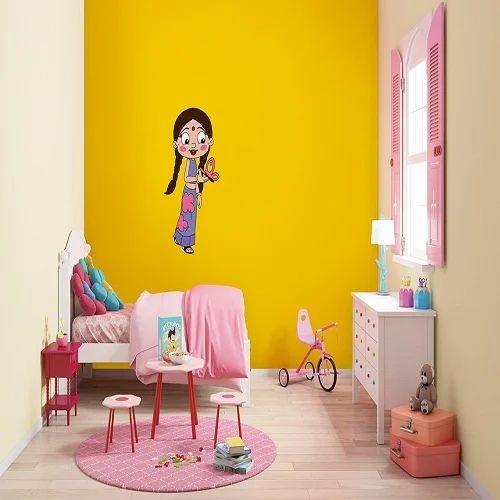 Interior Walls - kids world - Chota Bheem Stencils Interior Paint ...