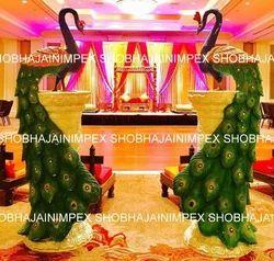 Wedding decoration props candle and diya stand manufacturer from delhi decorative fiber peacock junglespirit Images