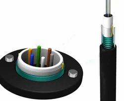 Armoured Fiber Optic Cable, 6 Core, SM, Unitube