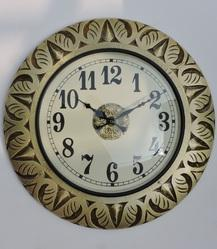 Antique Wood Carving Metal Clocks