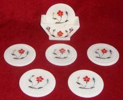 Marble Inlay Tea Coasters