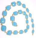 Blue Chalcedony Bezel Chain
