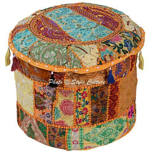 Ottoman Pouf Covers Indian Ottoman Pouf Cushion Cover Exporter Unique How To Make A Round Pouf Ottoman