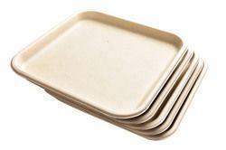 "11"" Sq. Biodegradable Plate"