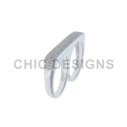 925 Silver Two Finger Ring