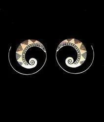 Brass Earring In Round Shape